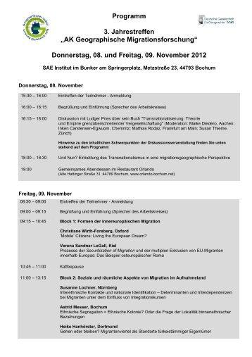 Donnerstag, 08. und Freitag, 09. November 2012 - AK ...