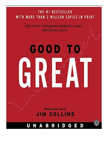 Best PDF Good to Great Why Some Companies Make the Leap.and Other's Don't Full Books