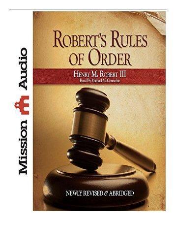 Best PDF Robert's Rules of Order Full Books