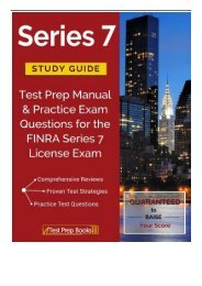 Best PDF Series 7 Study Guide Test Prep Manual  Practice Exam Questions for the FINRA Series 7 License