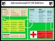 Informationstafel FC SW Kalkriese e.V.
