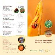 Ökologisch wirtschaftende Betriebe im Kreis Steinfurt