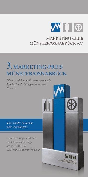 Flyer Neujahrsempfang 2012 - Marketingclub Münster/Osnabrück