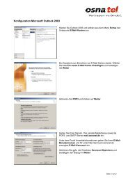 E-Mail mit Outlook 2003 - Osnatel