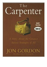 PDF Download The Carpenter A Story about the Greatest Success Strategies of All Full eBook