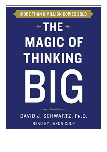 PDF Download The Magic of Thinking Big Full Page
