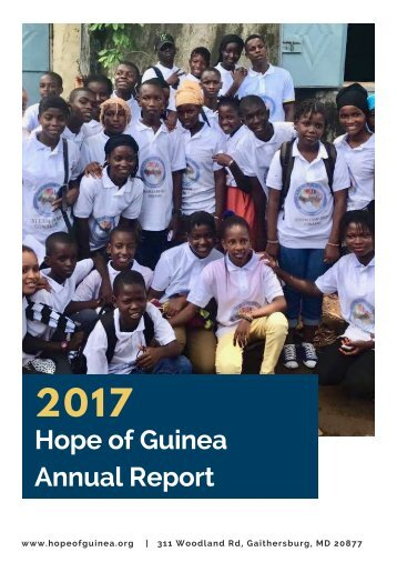2017 Hope of Guinea Annual Report