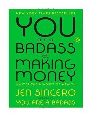 PDF Download You Are a Badass at Making Money Master the Mindset of Wealth Full eBook