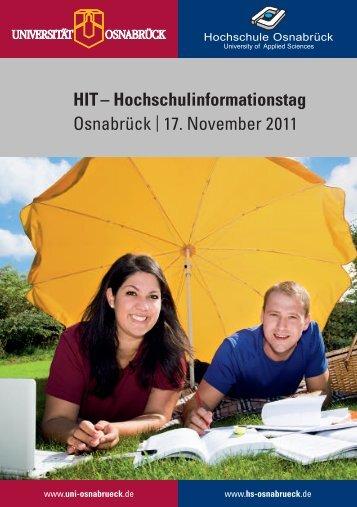 HIT – Hochschulinformationstag Osnabrück 17. November 2011