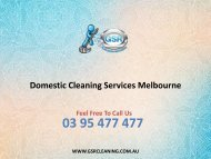 Domestic Cleaning Services Melbourne
