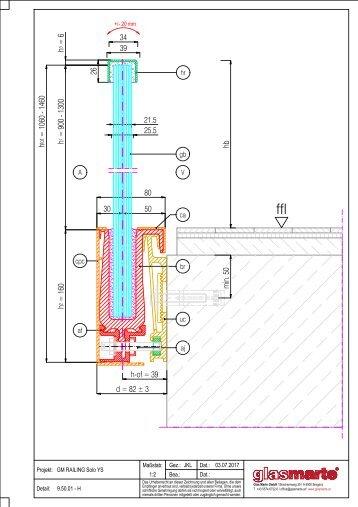 GM RAILING SOLO YS 20/24 - Detailzeichnung