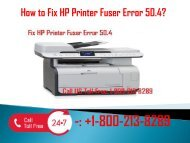 1-800-213-8289 Fix HP Printer Fuser Error 50.4