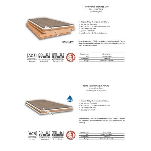 dwb Produktinformation Corpet TerraVerde MAXIMO NaturDesignBoden Sortiment
