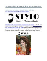Exclusive and Top Makeover Studio in Udaipur Stylo Salon