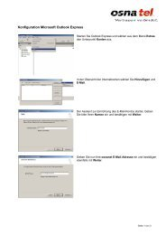 E-Mail mit Outlook Express - Osnatel