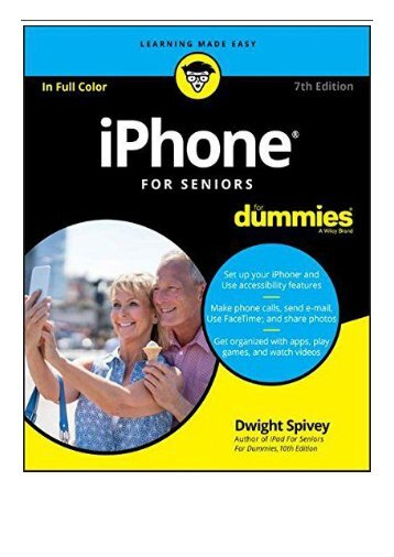 [PDF] iPhone For Seniors For Dummies For Dummies Computer Tech  Full Page