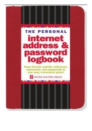 [PDF] The Personal Internet Address  Password Logbook Red Full Online