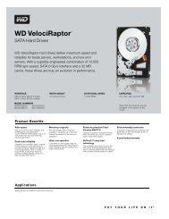 WD VelociRaptor 2.5-inch Disti Spec Sheet - OSNet.eu