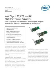 Intel(r) ET ET2 EF Server Adapters Product Brief - OSNet.eu
