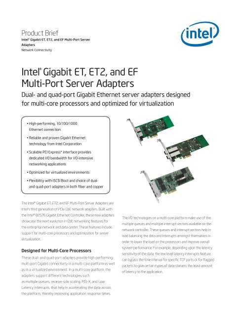 Intel(r) ET ET2 EF Server Adapters Product Brief - OSNet.eu