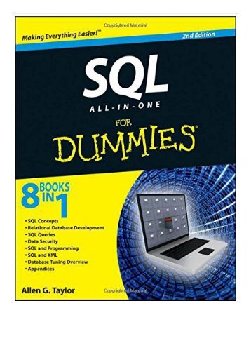 Best PDF SQL All-In-One for Dummies 2nd Edition Full Online
