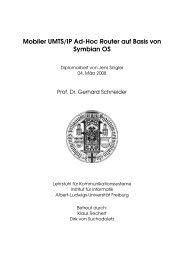 Mobiler UMTS/IP Ad-Hoc Router auf Basis von Symbian OS