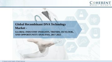 Recombinant DNA Technology Market to Surpass US$ 196.7 Billion by 2025