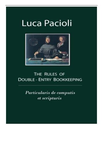 [PDF] The Rules of Double-Entry Bookkeeping Particularis de computis et scripturis Full Page