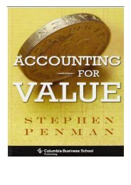 Best PDF Accounting for Value Columbia Business School Publishing Full Online