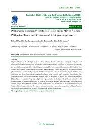 Prokaryotic community profiles of soils from Mayon volcano, Philippines based on 16S ribosomal RNA gene sequences