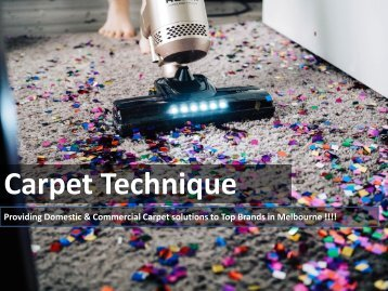 Domestic or Commercial Carpets in Melbourne by Carpet Technique