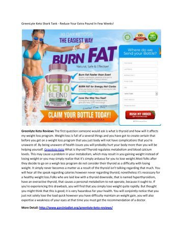 GreenLyte Keto - Suppresses Your Appetite & Maintain curve Body!