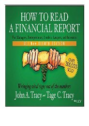 Best PDF How to Read a Financial Report Wringing Vital Signs Out of the Numbers Full Online