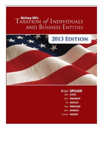 Best PDF McGraw-Hill's Taxation of Individuals  Business Entities + Connect Plus Full Page