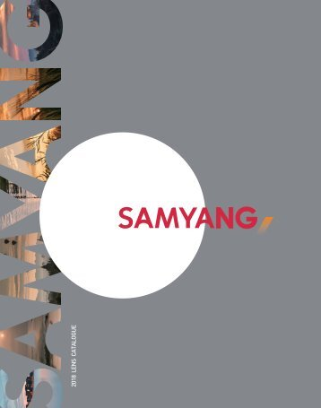 Samyang 2018 Catalogue