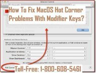 1-800-608-5461 Fix MacOS Hot Corner Problems With Modifier Keys