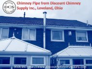 Buy Chimney Pipe from Discount Chimney Supply Inc., Ohio, USA