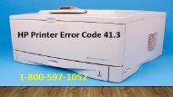 1-800-597-1052 How To Fix HP Printer Error Code 41.3