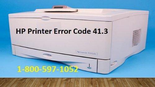 1-800-597-1052 How To Fix HP Printer Error Code 41.3