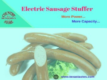 Electric Sausage Stuffer at best price | Available at Heinsohn's Country Store