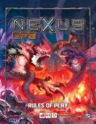 Nexus Ops rules - Fantasy Flight Games
