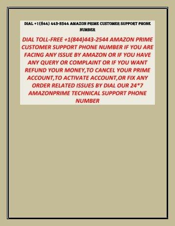 1(844)443-2544 AMAZON PRIME CUSTOMER SUPPORT PHONE NUMBER,AMAZON HELPLINE NUMBER