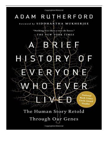 eBook A Brief History of Everyone Who Ever Lived The Human Story Retold Through Our Genes Free eBook