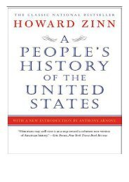 eBook A People's History of the United States Free eBook