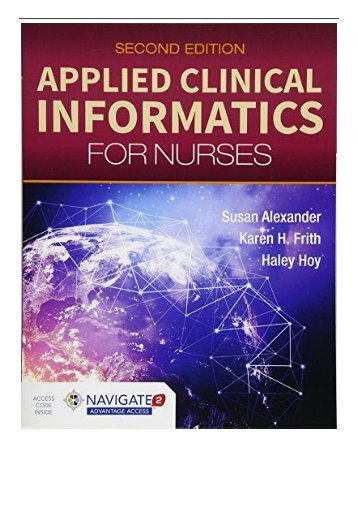 eBook Applied Clinical Informatics For Nurses Free eBook
