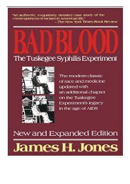 eBook Bad Blood The Tuskagee Syphilis Experiment Free online