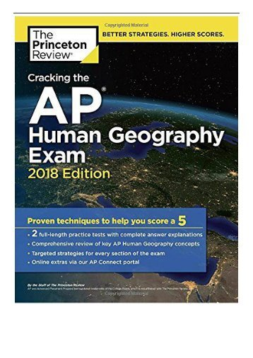 eBook Cracking the AP Human Geography Exam 2018 Edition College Test Prep Free eBook