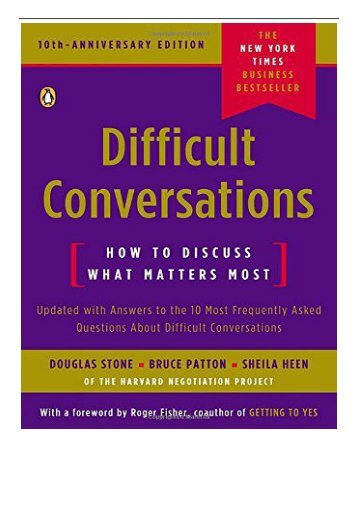 eBook Difficult Conversations How to Discuss What Matters Most Free eBook