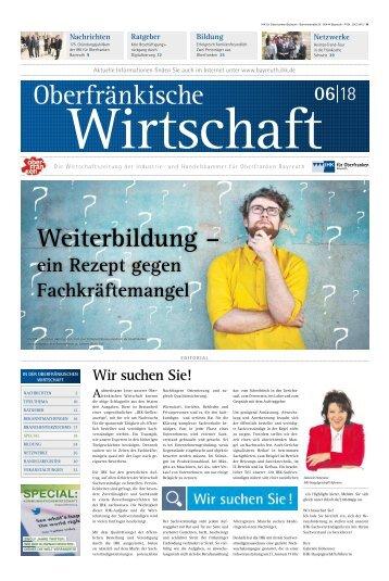 Oberfränkische Wirtschaft Ausgabe 06.2018