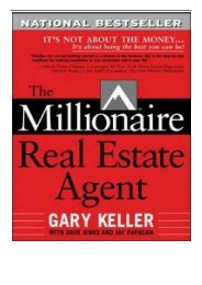[PDF] Download The Millionaire Real Estate Agent It's Not About The Money.It's About Being The Best